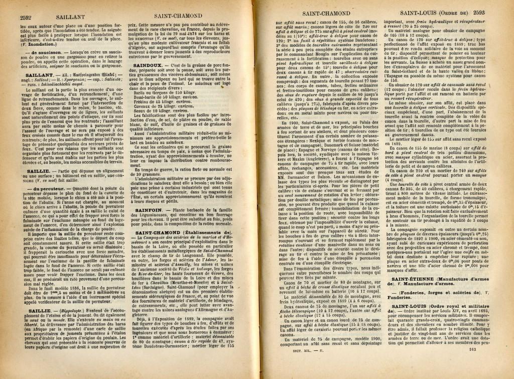 Pages du Dictionnaire militaire