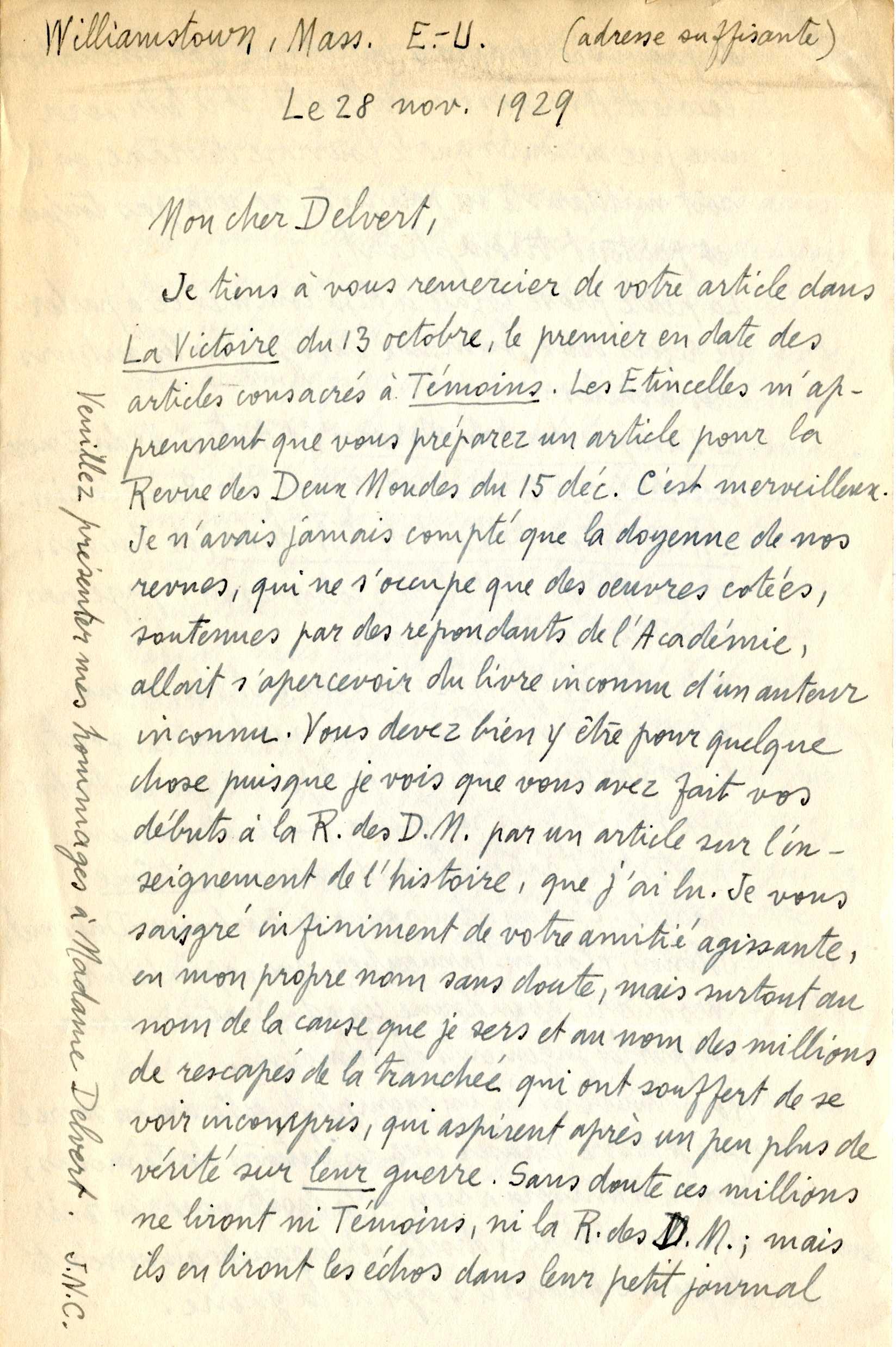 Lettre JNC 28 novembre 1929 1